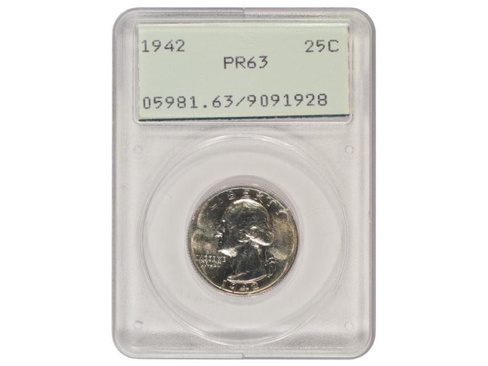 1942 Washington Quarter PCGS PR63