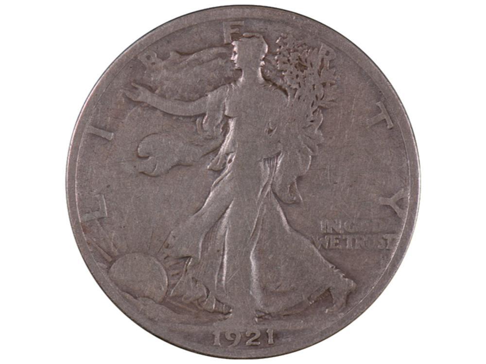 1921 Walking Liberty Half Dollar Coin