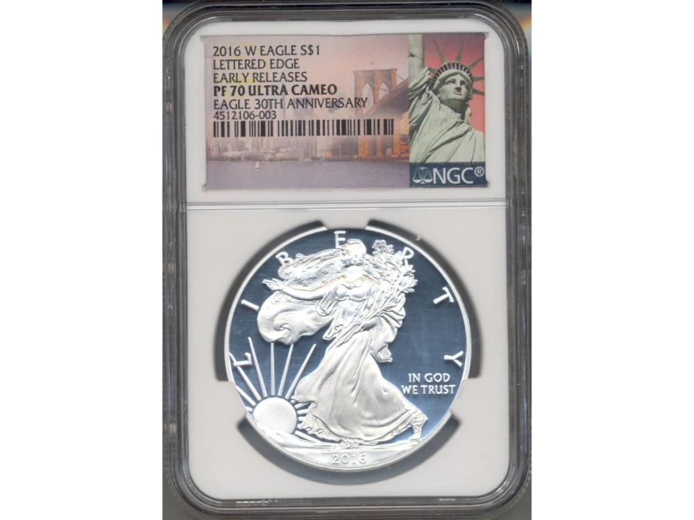 2016-W $1 Walking Liberty Dollar Coin NGC PF70