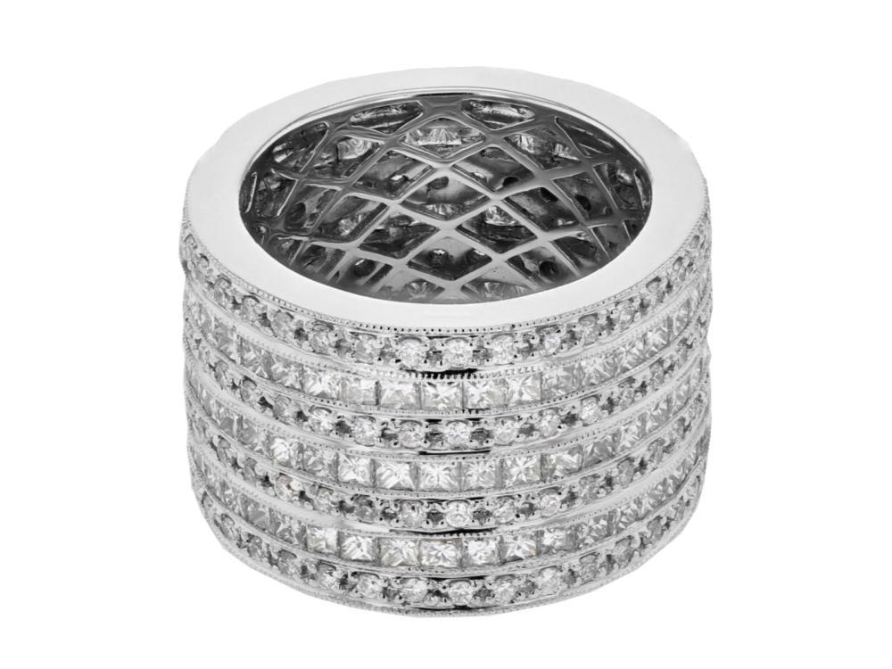 18KT White Gold 5.15ctw Diamond Ring