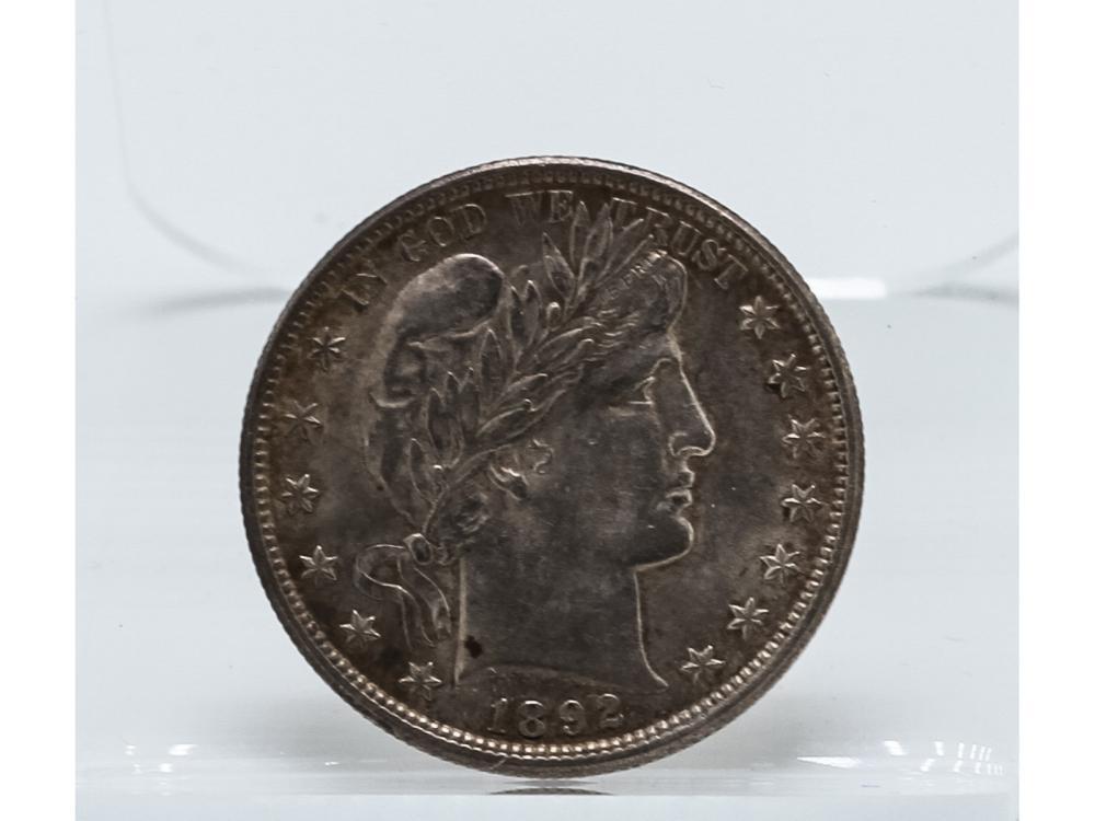 1892 Barber Half Dollar Coin