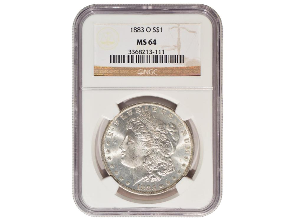 1883-O $1 Morgan Silver Dollar Coin NGC MS64