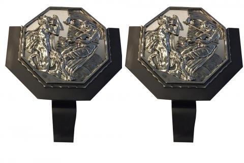 Pair of French Art Deco illuminated Theater Sconces