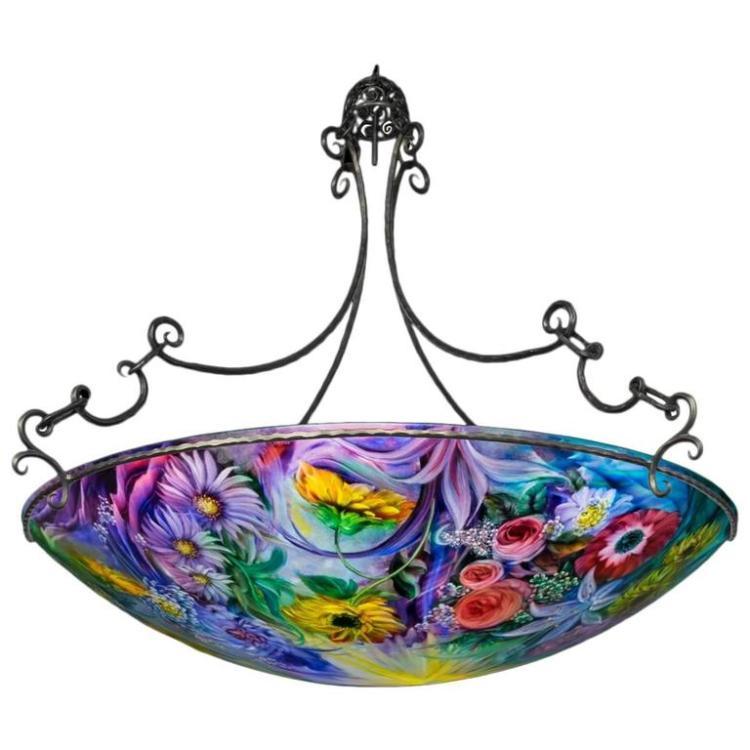 Signed original Ulla Darni 52 inch chandelier