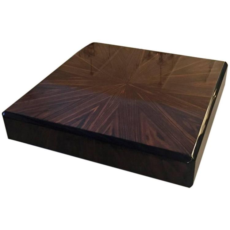 French Art Deco Macassar Sunburst Coffee Table