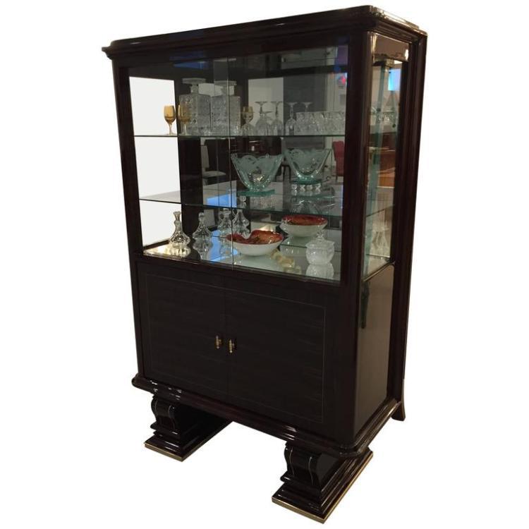 French Art Deco Vitrine, Display Cabinet / Dry Bar