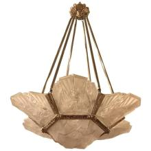French Art Deco Chandelier Signed by J Robert