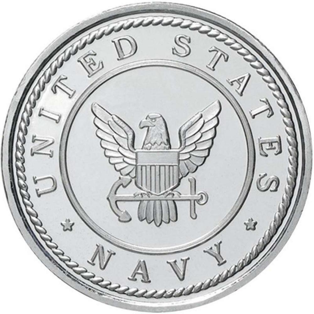 US Navy .999 Silver 1 oz Round #1AC96568