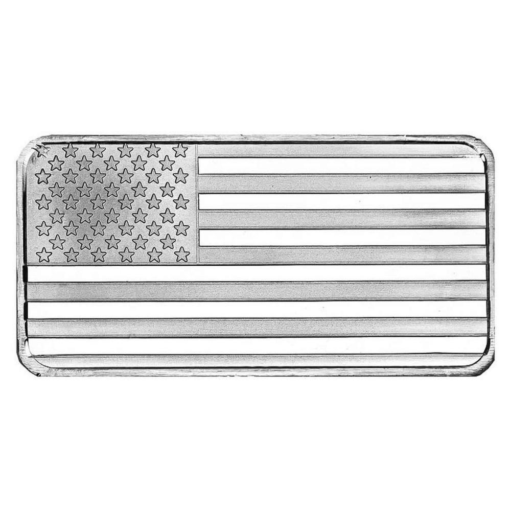 SilverTowne 10 oz Silver Bar - Flag Design #1AC96526