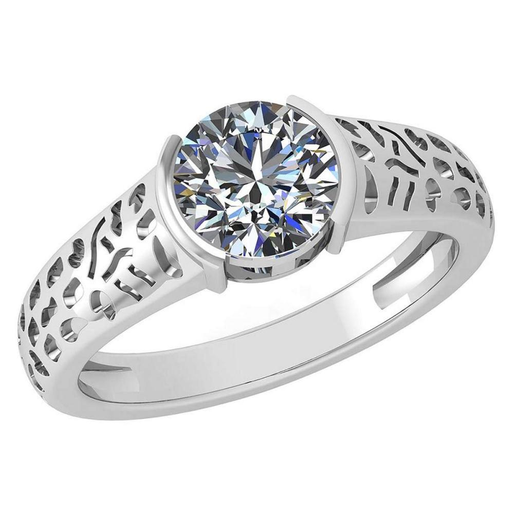 Certified 1.25 Ctw Diamond Halo Ring For Engagement New Expressions love collection 14K WhiteGold (I1/I2) #1AC19233