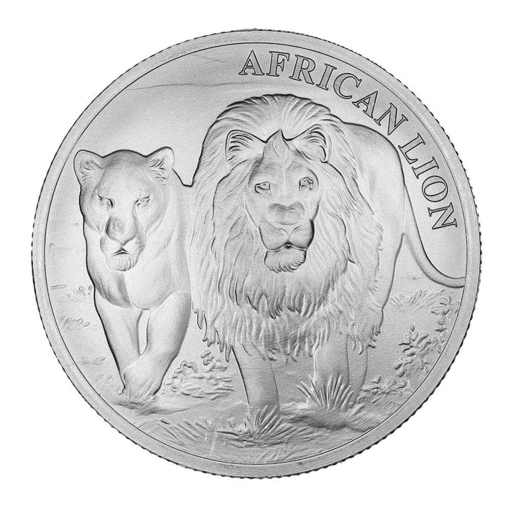 Congo 5000 Francs Silver 1 oz. 2016 African Lion #1AC84521