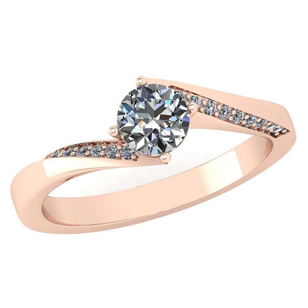 Certified 1.09 Ctw Diamond Halo Ring For Engagement New Expressions love collection 14K Rose Gold (VS/SI1) #1AC19213