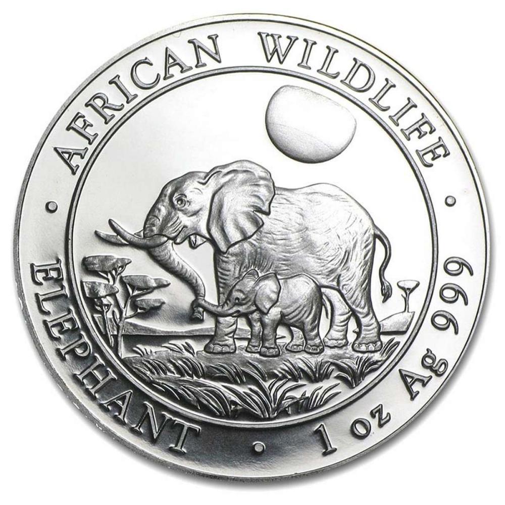 Somalia 1 oz Silver Elephant 2011 #1AC84522