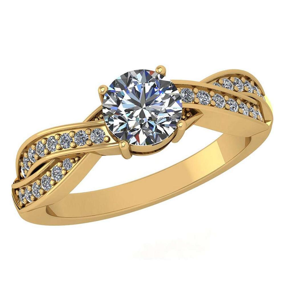 Certified 1.05 Ctw Diamond Ring For Engagement New Expressions love collection 14K Yellow Gold (SI2/I1) #1AC19215