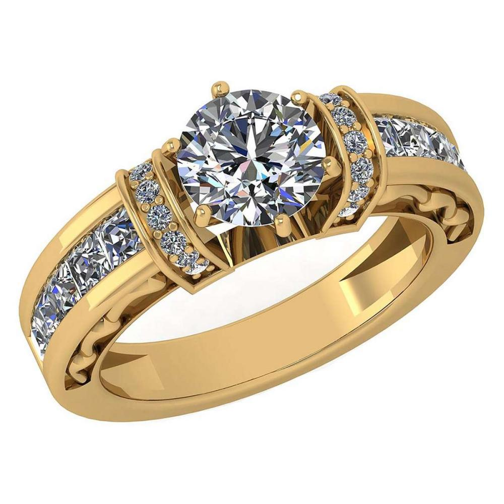 Certified 2.15 Ctw Diamond Halo Ring For Engagement New Expressions love collection 14K Yellow Gold (SI2/I1) #1AC19229