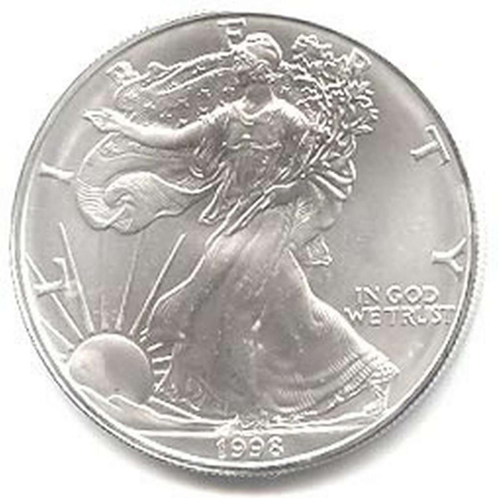 1998 1 oz Silver American Eagle BU #1AC96652