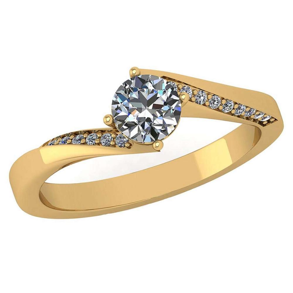 Certified 1.09 Ctw Diamond Halo Ring For Engagement New Expressions love collection 14K Yellow Gold (VS/SI1) #1AC19214