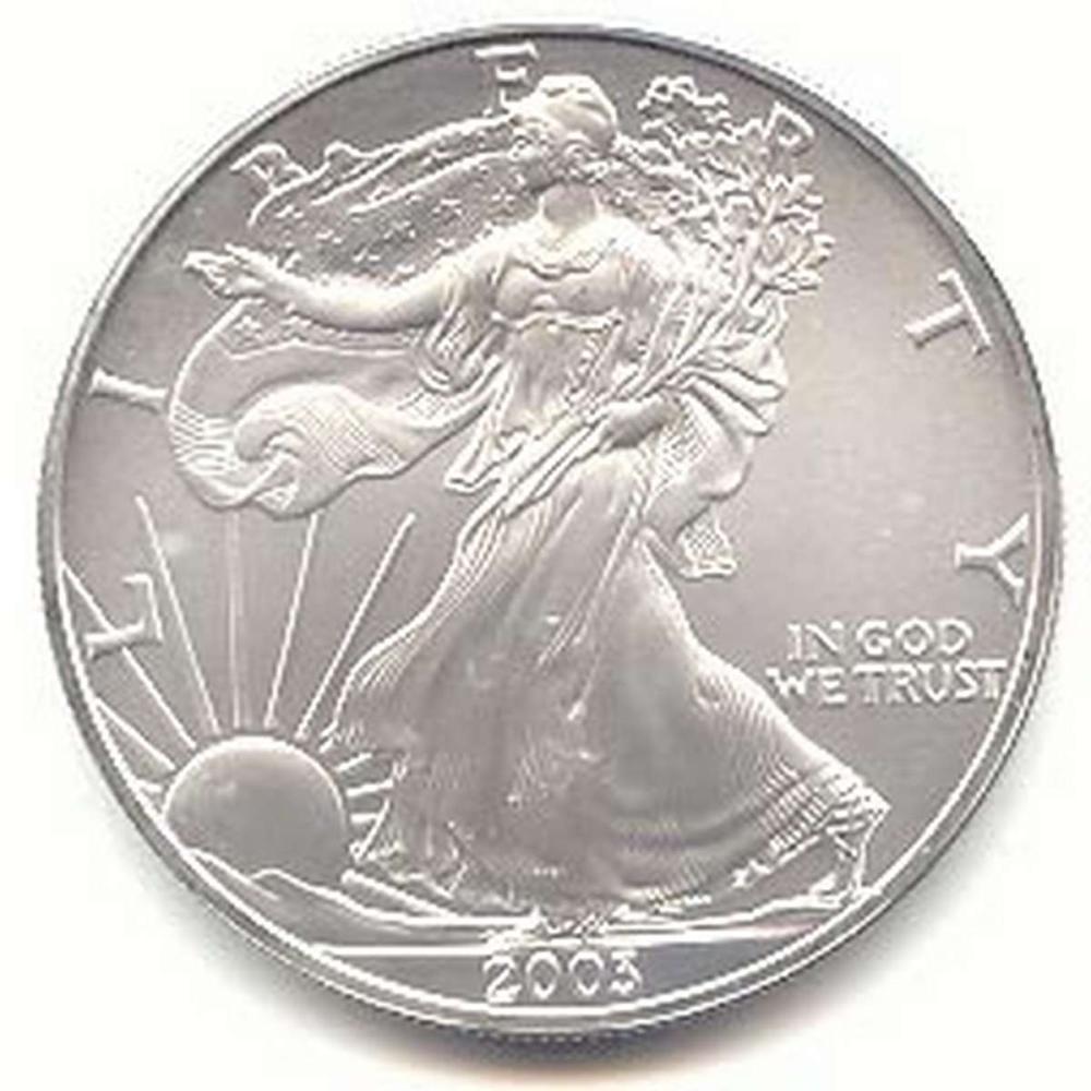 2003 1 oz Silver American Eagle BU #1AC96647