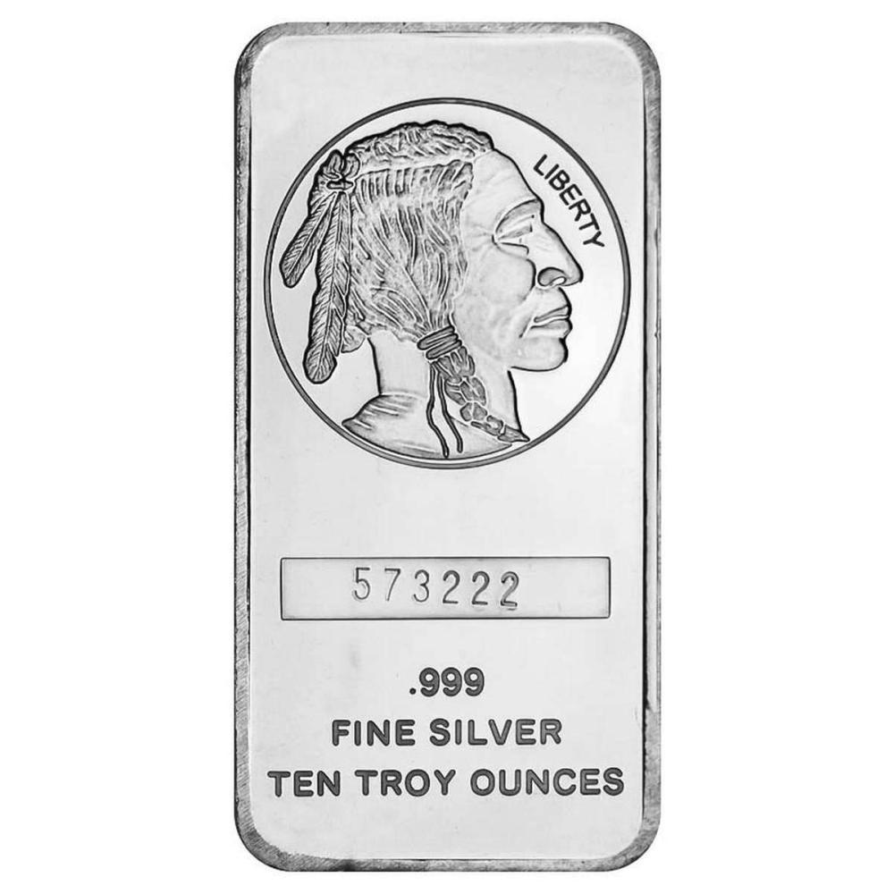 SilverTowne 10 oz Silver Bar - Buffalo Design #1AC96618