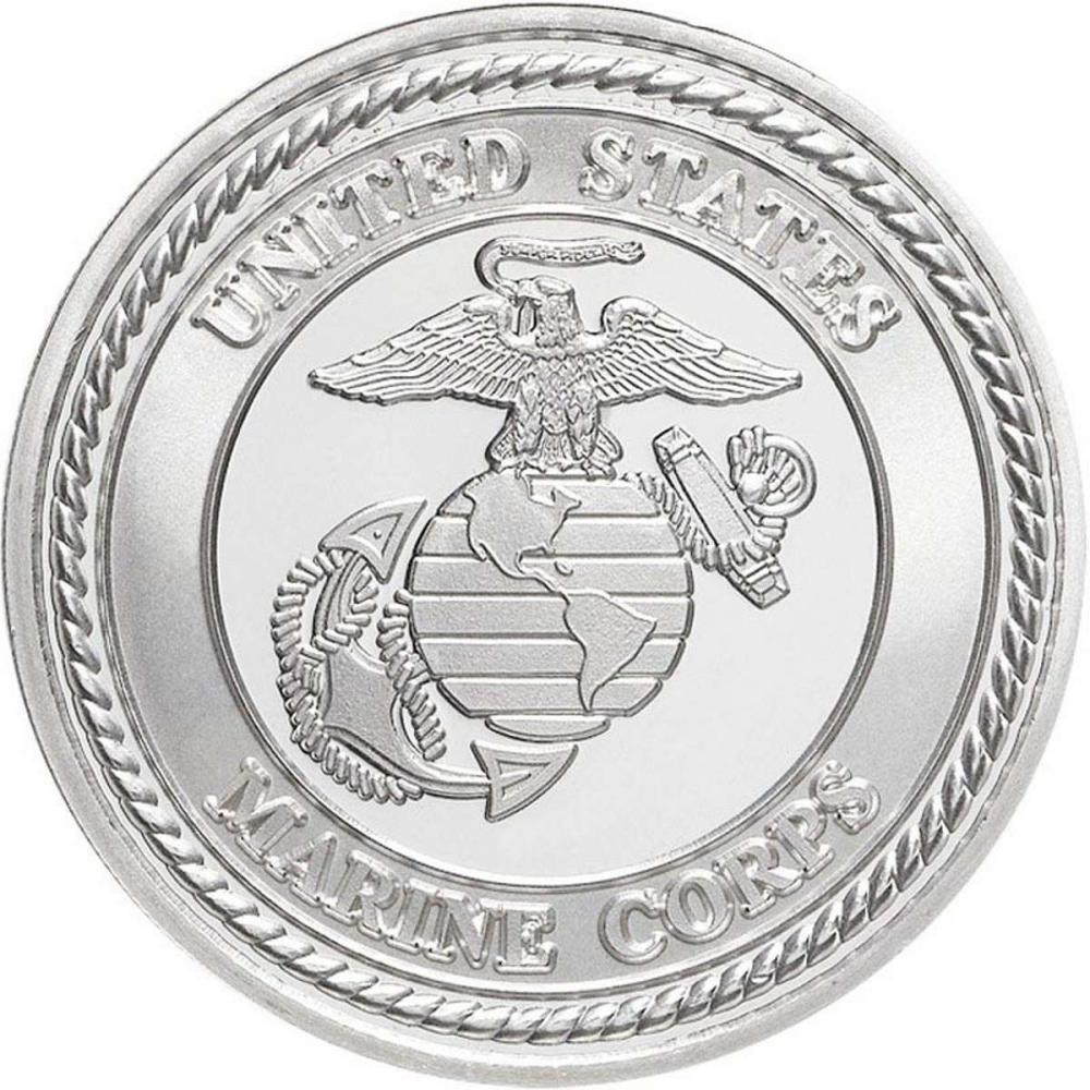 US Marines .999 Silver 1 oz Round #1AC96567