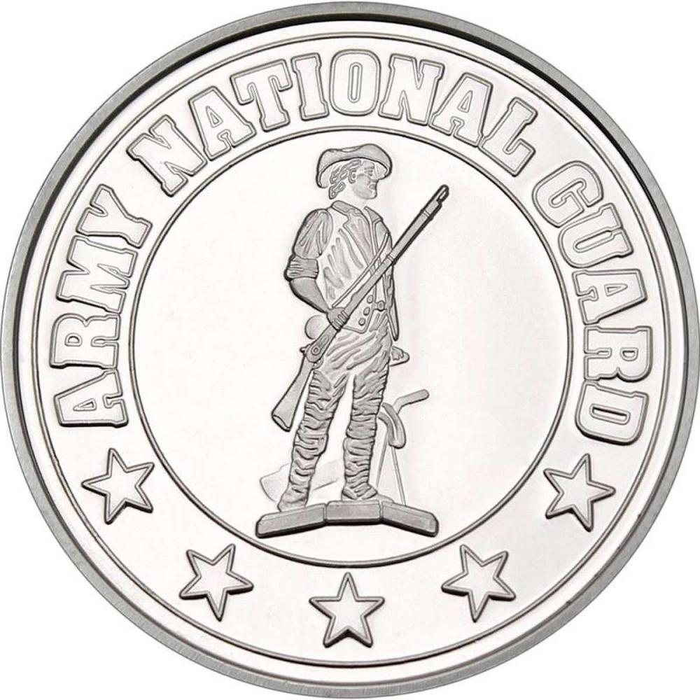 Army National Guard .999 Silver 1 oz Round #1AC96566