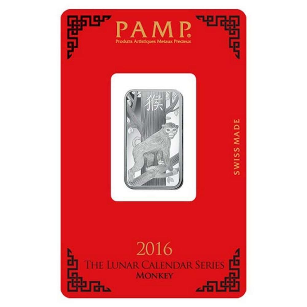 PAMP Suisse Silver Bar 10 Gram - 2016 Monkey Design #1AC96587