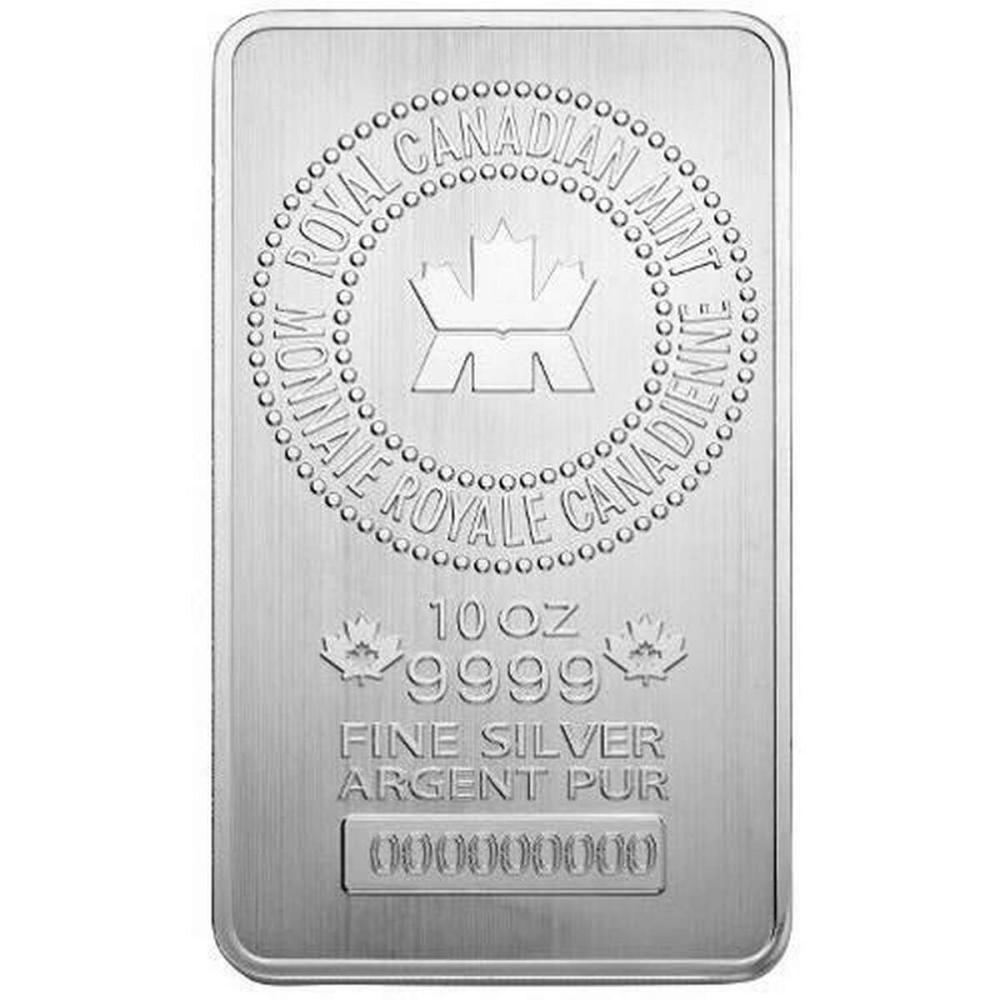 Royal Canadian Mint 10 oz Silver Bar #1AC96530