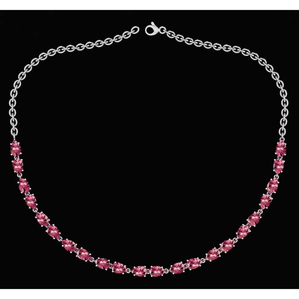 Certified 12.50 Ctw Pink Tourmaline Pear Shape Necklace For womens 21st Century New collection 14K White Gold #1AC18146