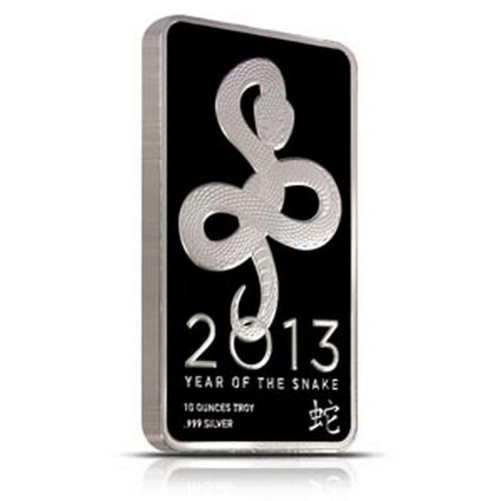 NTR Metals Silver Bar 10 oz - 2013 Snake Design #1AC96628