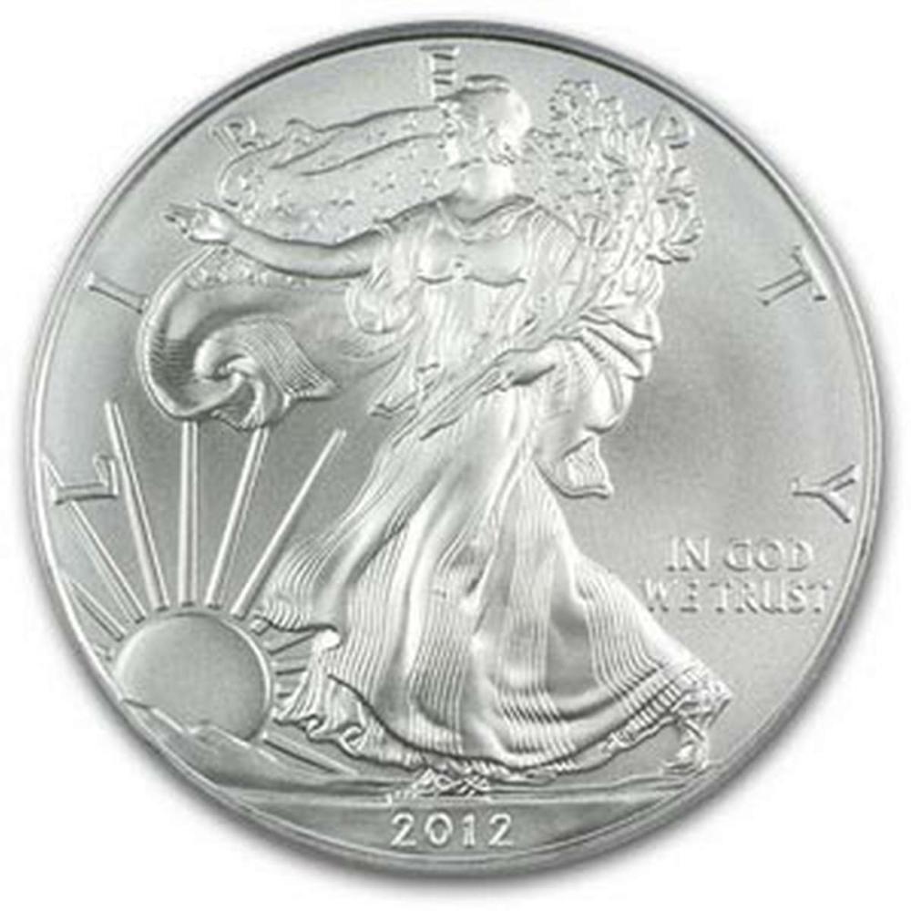2012 1 oz Silver American Eagle BU #1AC96640