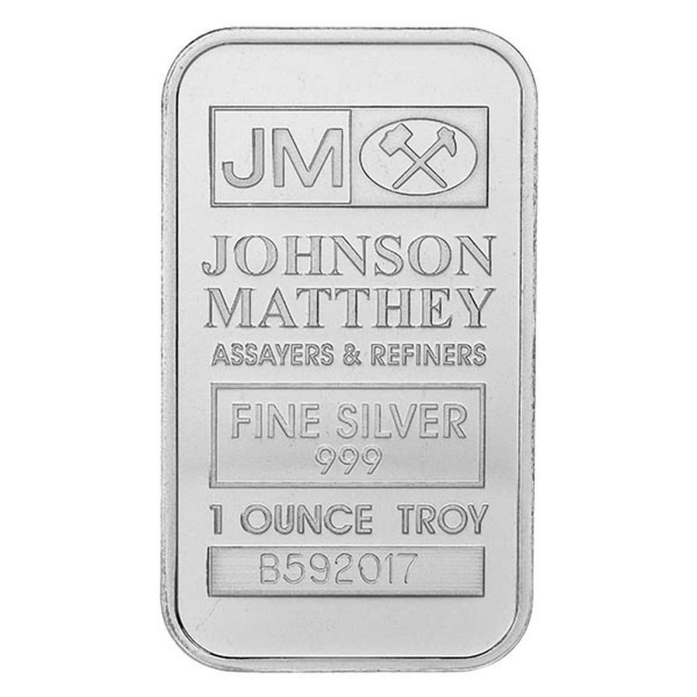 Johnson Matthey 1 oz Silver Bar #1AC96623