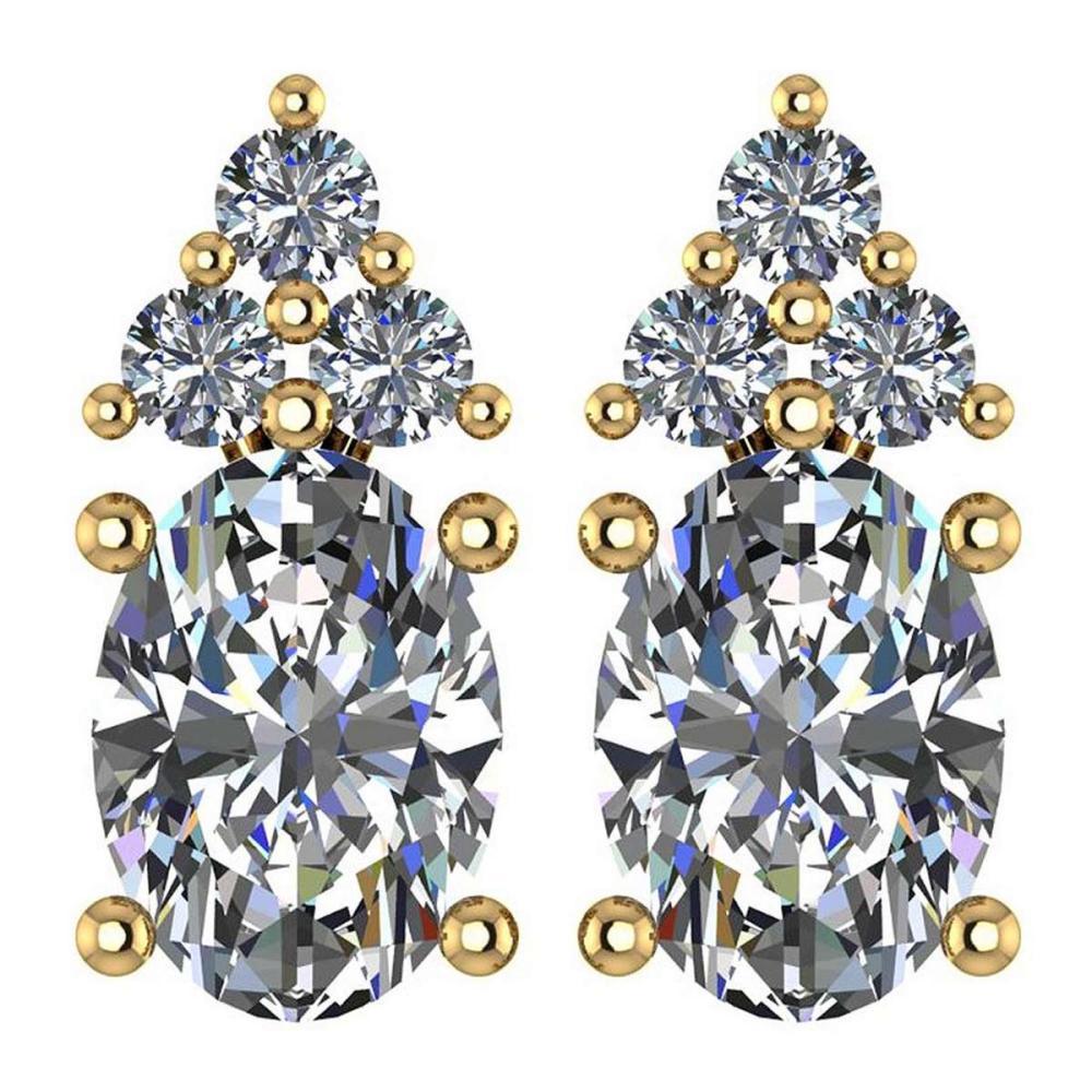 Lot 1111009: Certified 1.51 Ctw Diamond 14k Yellow Gold Stud Earrings #1AC17075