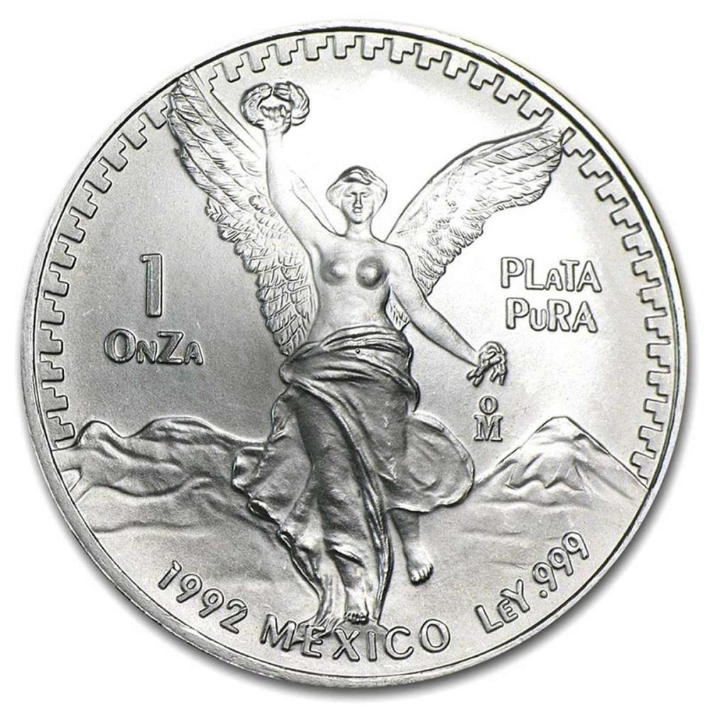 1992 1 oz Mexican Silver Libertad #1AC84405