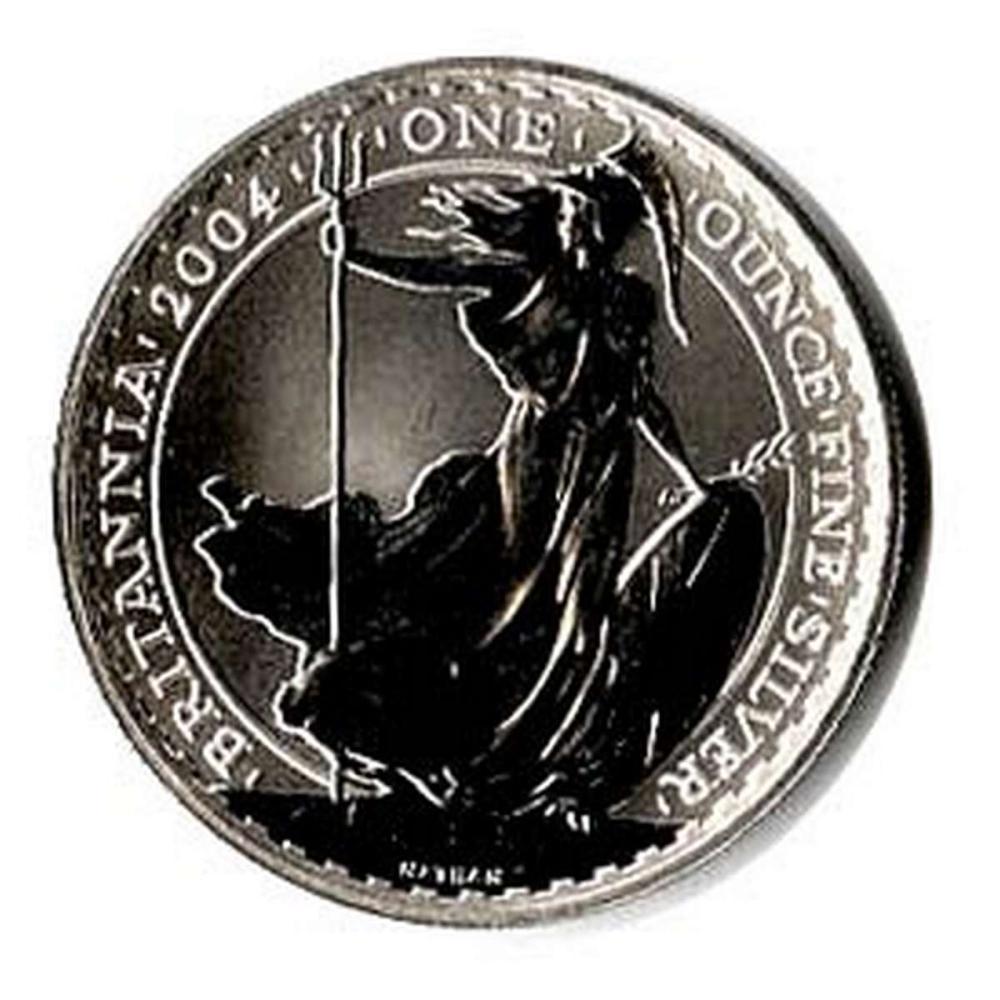 Uncirculated Silver Britannia 1 oz 2004 #1AC84416