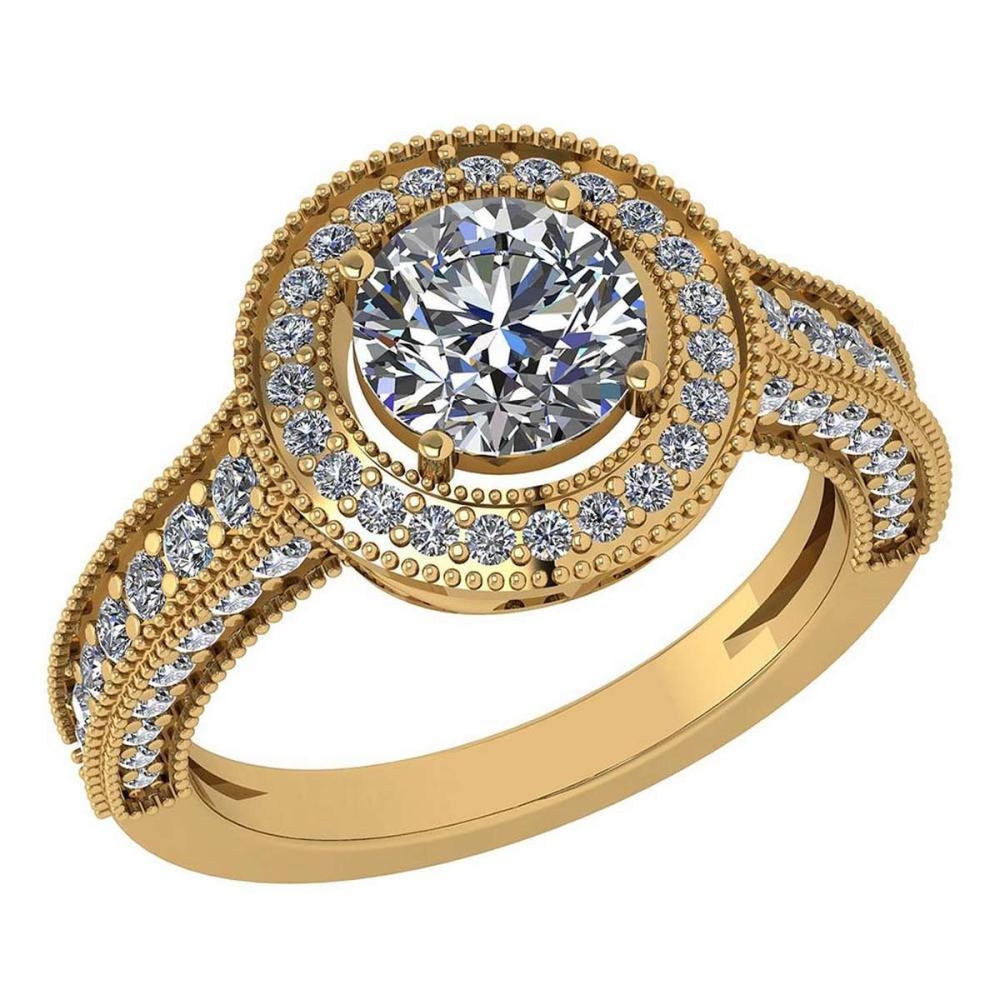 Lot 1111044: Certified 1.92 Ctw Diamond Engagement /Wedding 14K Yellow Gold Promise Ring #1AC17050