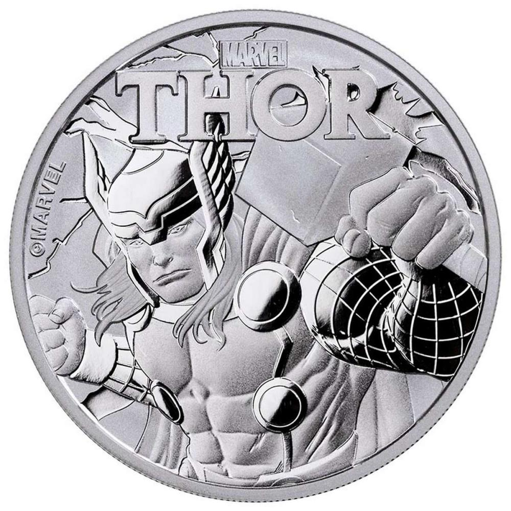 2018 Tuvalu 1 oz Silver $1 Marvel Series THOR Coin BU #1AC84397