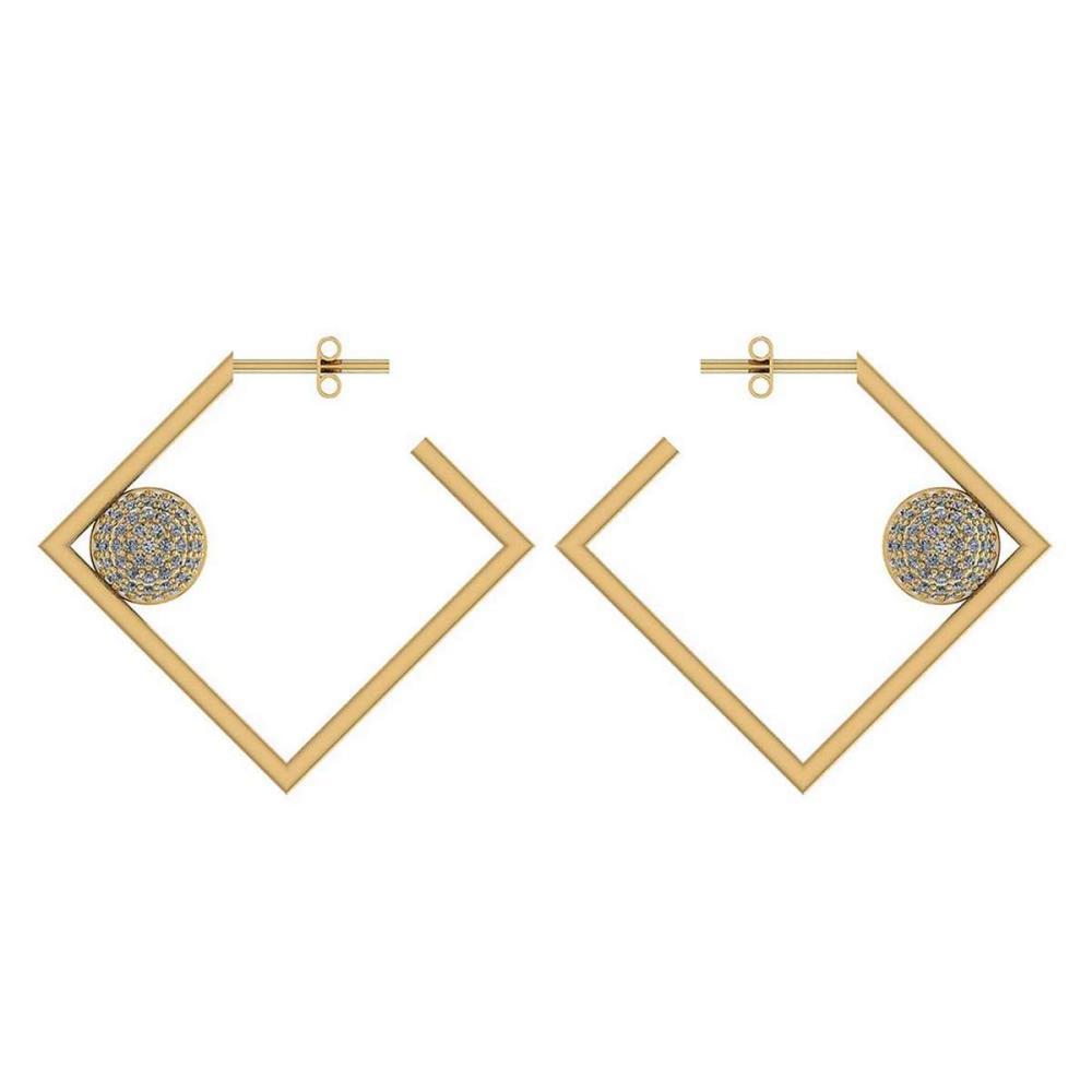 Lot 1111073: Certified 0.63 Ctw Diamond 14K Yellow Gold Earrings #1AC17059