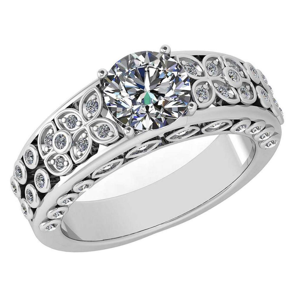 Certified 1.65 Ctw Diamond Engagement /Wedding 14K White Gold Promise Ring #1AC17091