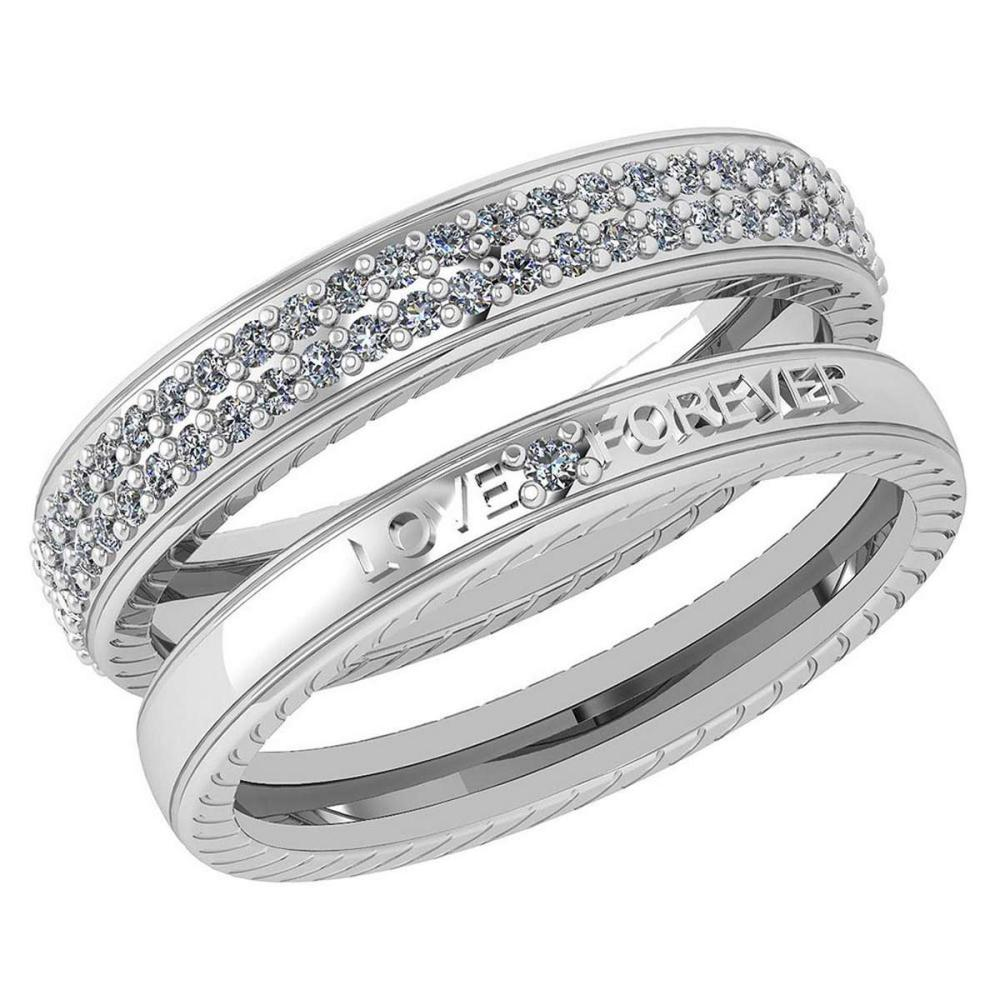 Lot 1111075: Certified 1.00 Ctw Diamond Wedding/Engagement 14K White Gold Halo Band #1AC16983