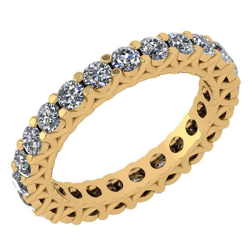 Certified 1.79 Ctw Diamond Wedding/Engagement 14K Yellow Gold Halo Band #1AC16987