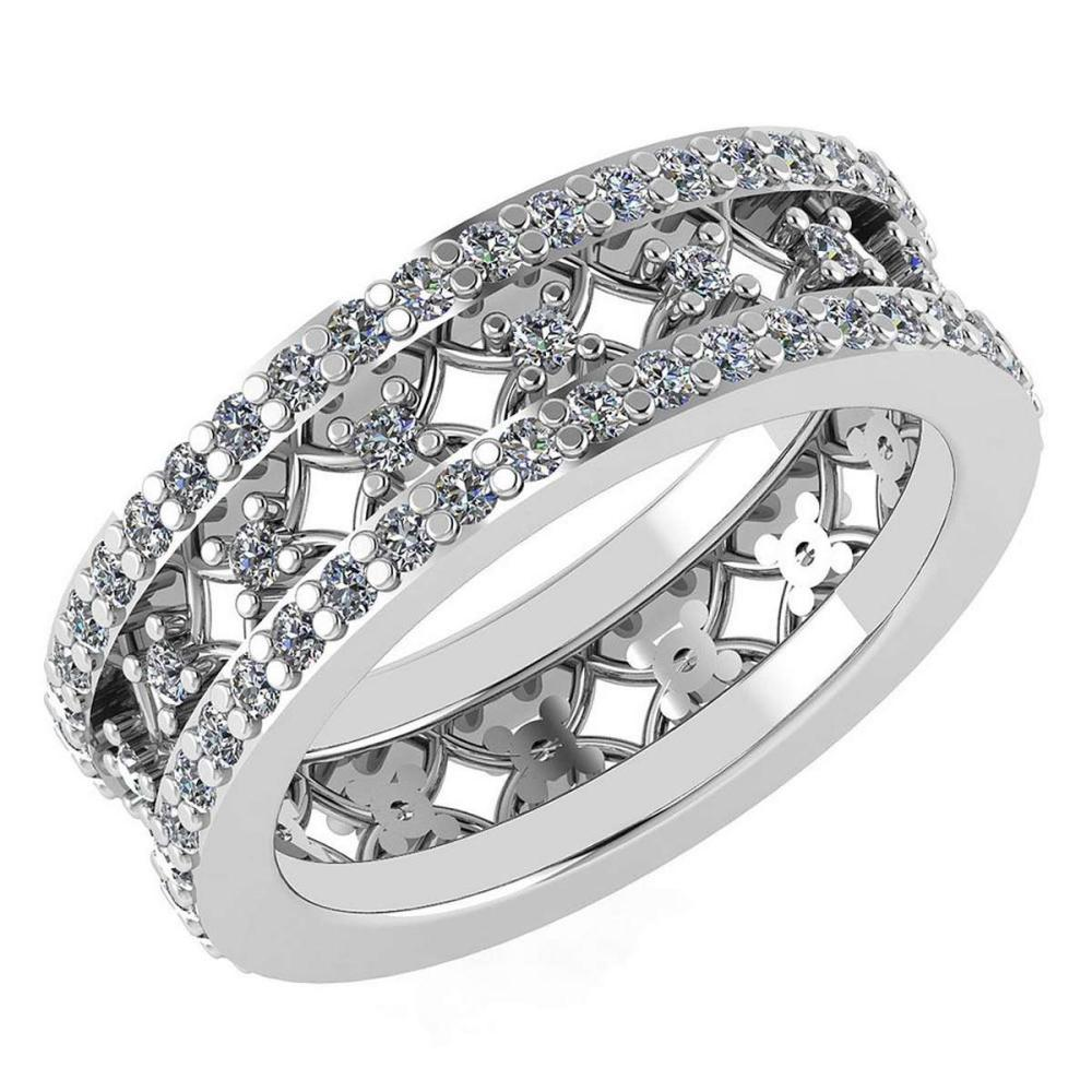 Certified 1.34 Ctw Diamond Engagement /Wedding 14K White Gold Promises Band #1AC17073