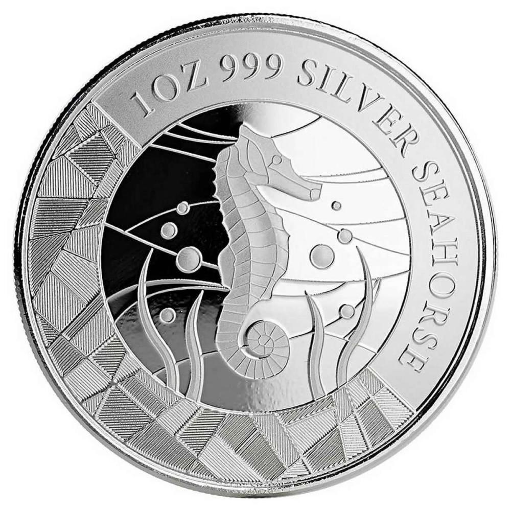 2018 Samoa 2 Tala 1 oz Silver Seahorse BU #1AC84429
