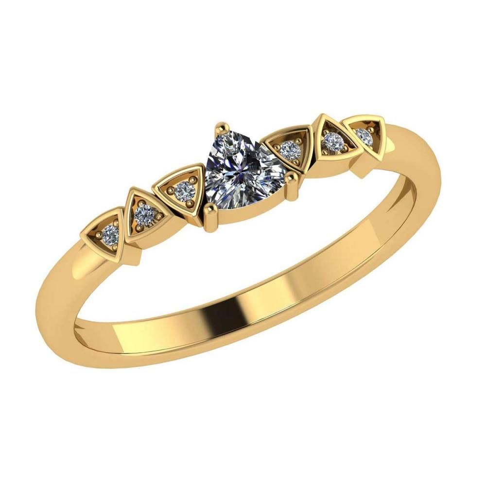 Certified 0.53 Ctw Diamond Engagement /Wedding 14K Yellow Gold Promise Ring #1AC17098