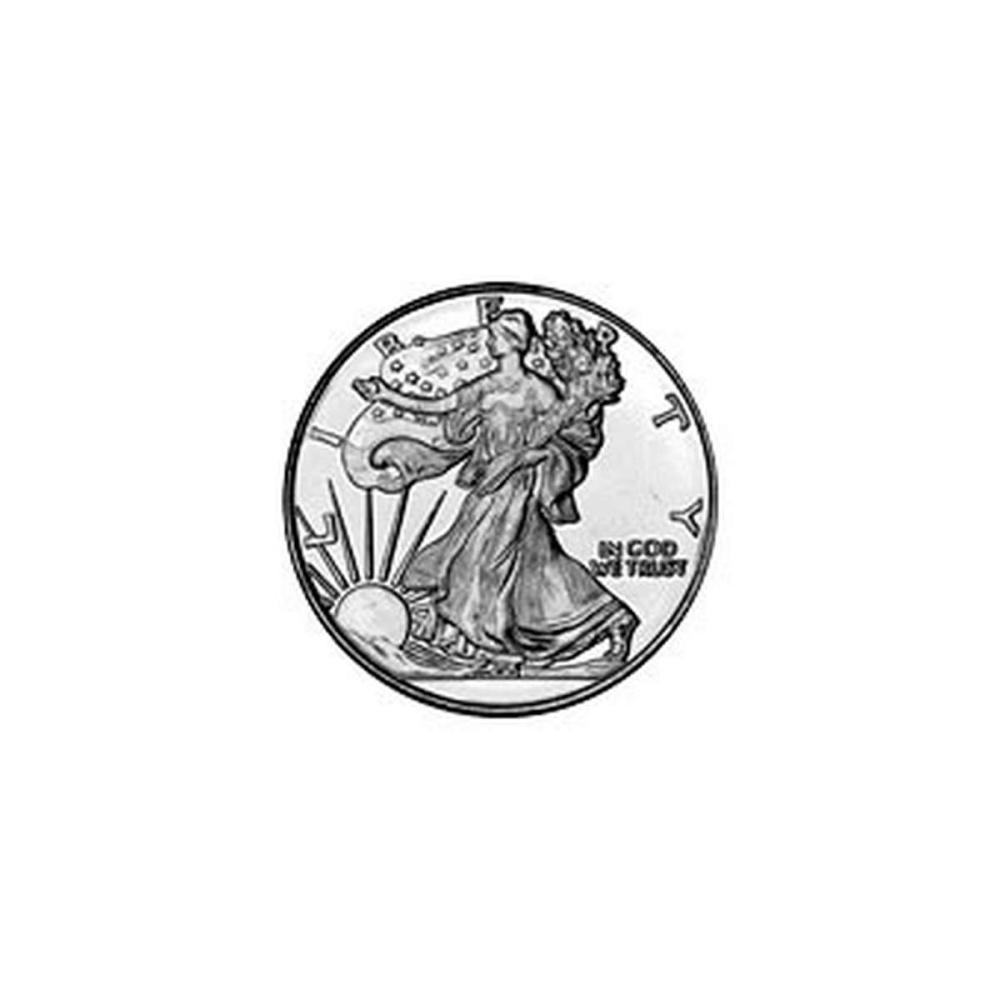 Silver Bullion 1/10 oz Walking Liberty Round .999 Fine #1AC84417