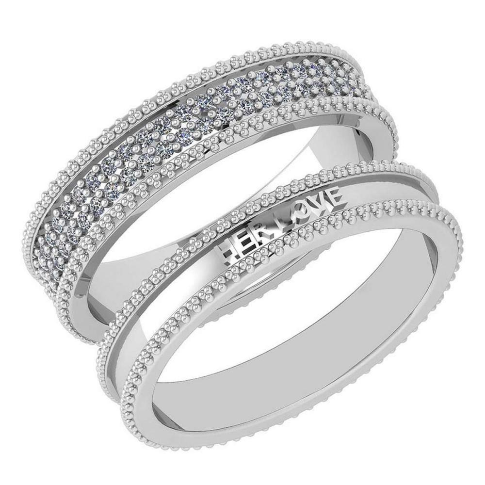 Certified 1.00 Ctw Diamond Wedding/Engagement 14K White Gold Halo Band #1AC16986
