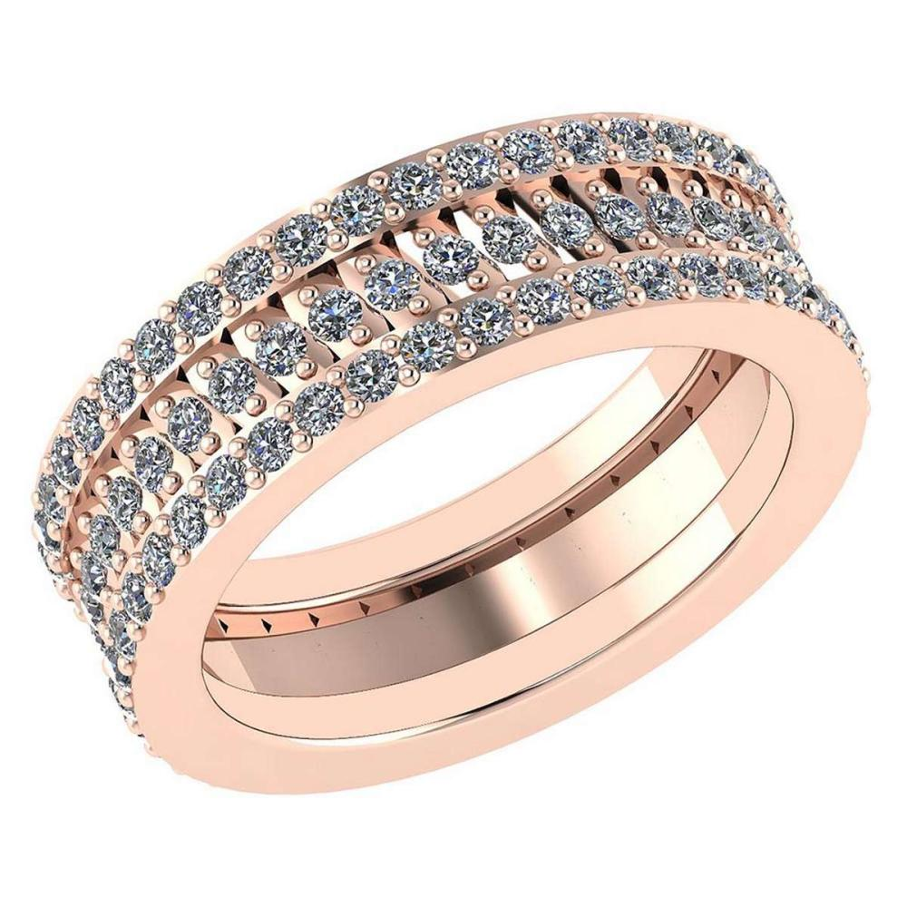 Certified 1.65 Ctw Diamond Engagement /Wedding 14K Rose Gold Promises Band #1AC17069