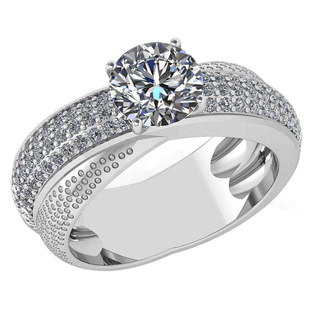 Certified 1.92 Ctw Diamond Engagement /Wedding 14K White Gold Promise Ring #1AC17082