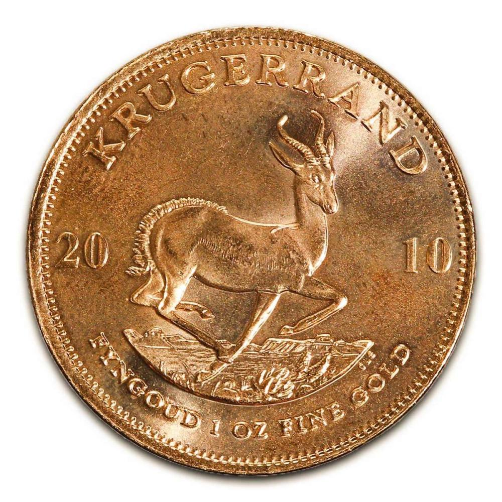 South Africa Gold Krugerrand 1 Ounce 2010 #1AC94952