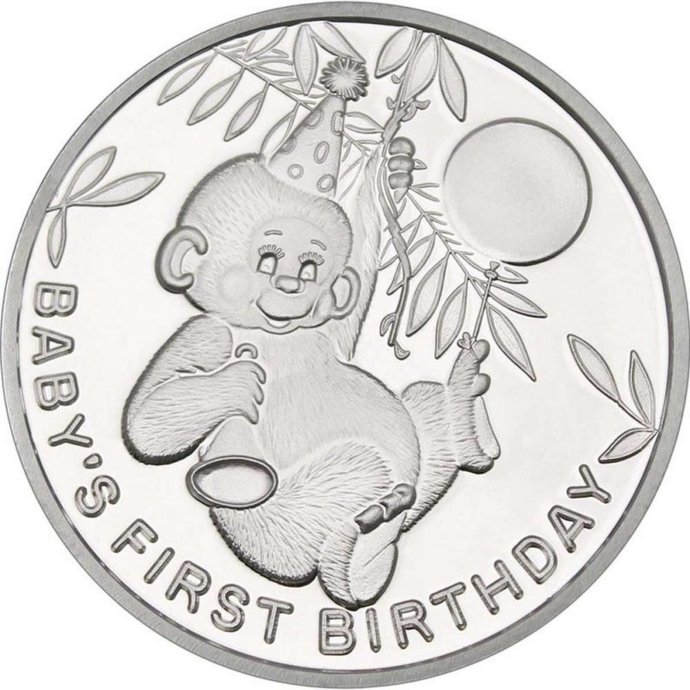 Babys First Birthday .999 Silver 1 oz Round #1AC96560