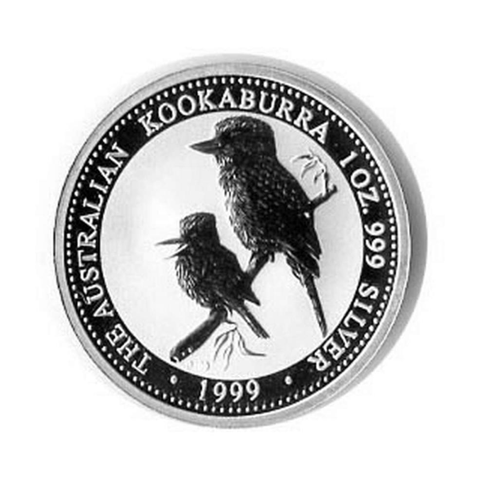 Lot 1111133: Australian Kookaburra 1 oz. Silver 1999 #1AC84421